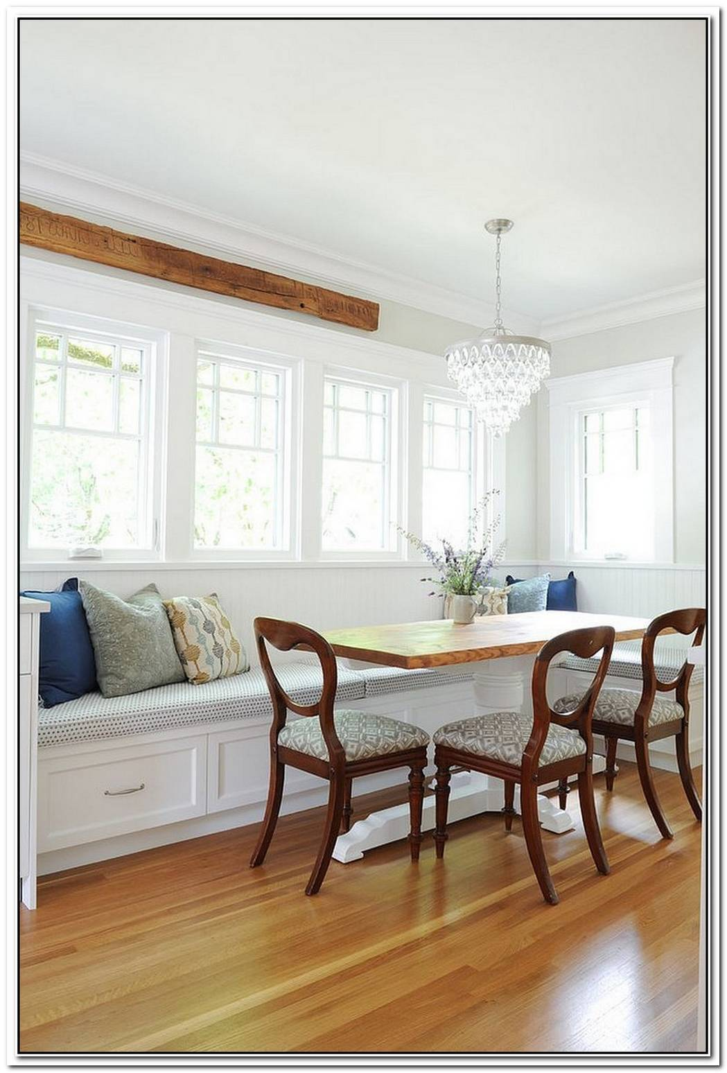 Bright And TrendyGorgeous White And Wood Dining Rooms To Savor