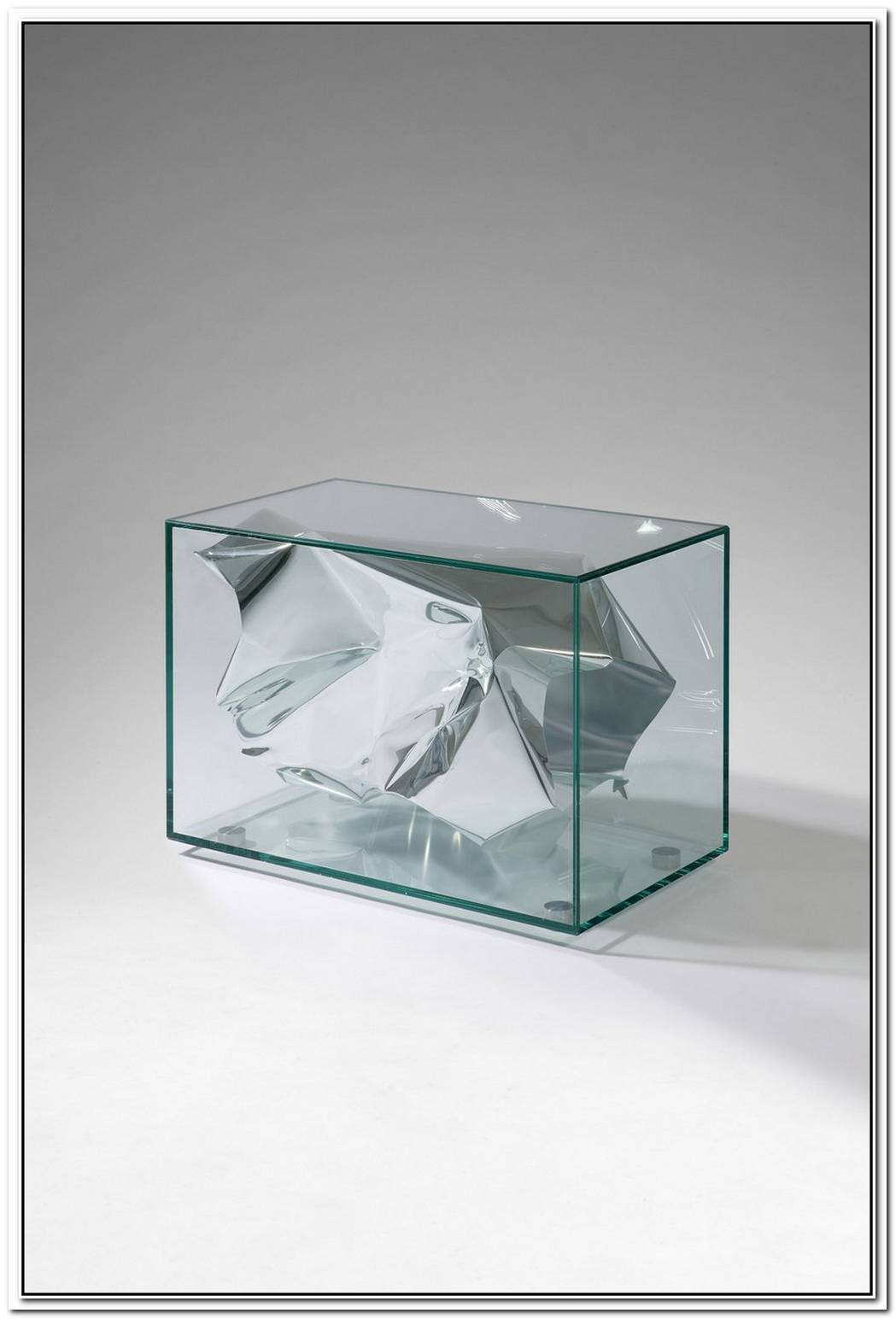 Bright Silver Crush Table By Fredrikson Stallard