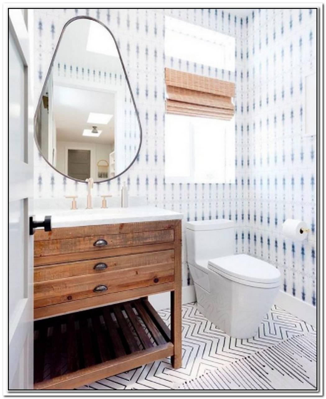 Bring Life To A Tiny Bathroom Using Abundant Patterns