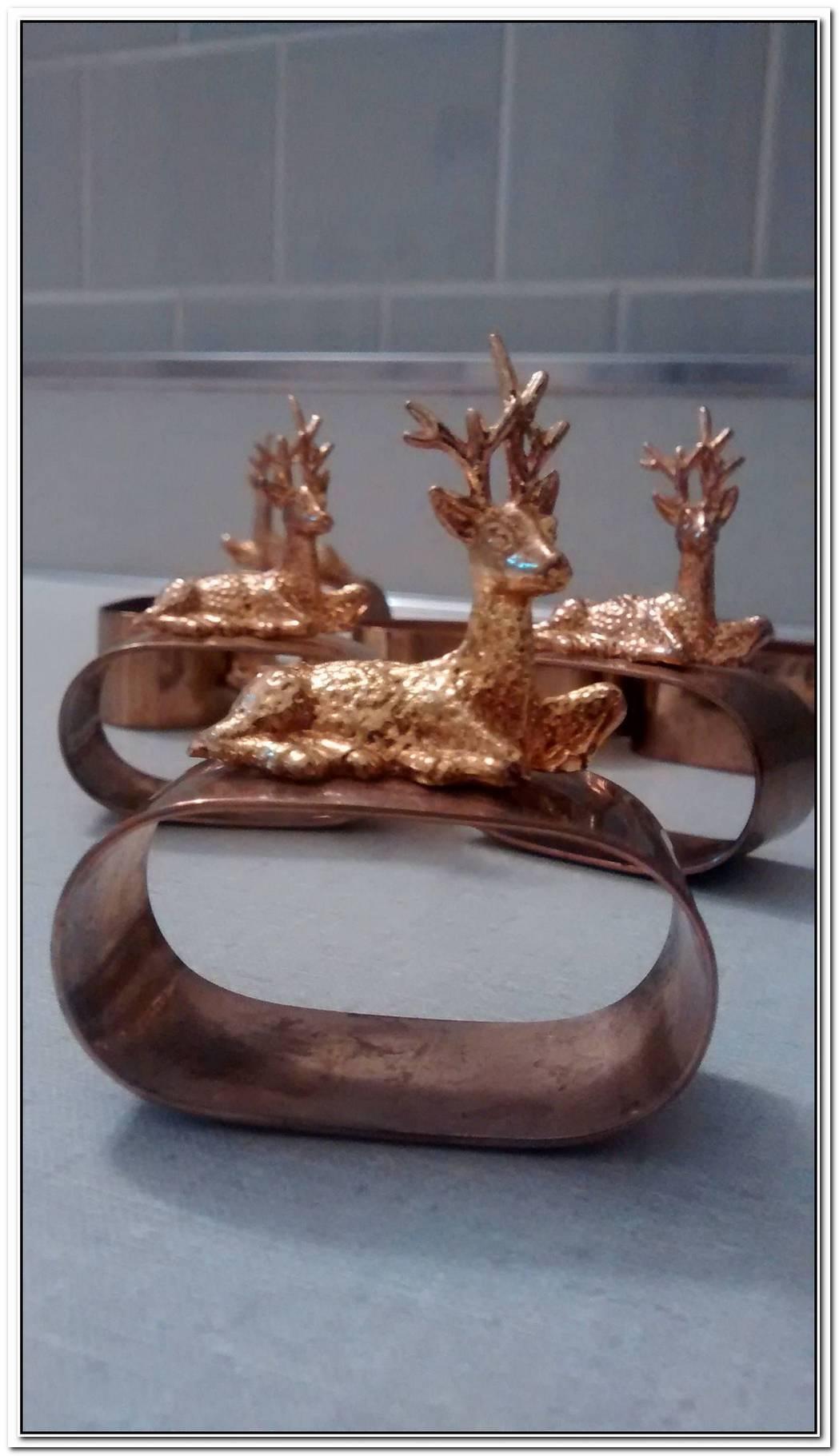 Bronze Reindeer Napkin Ring