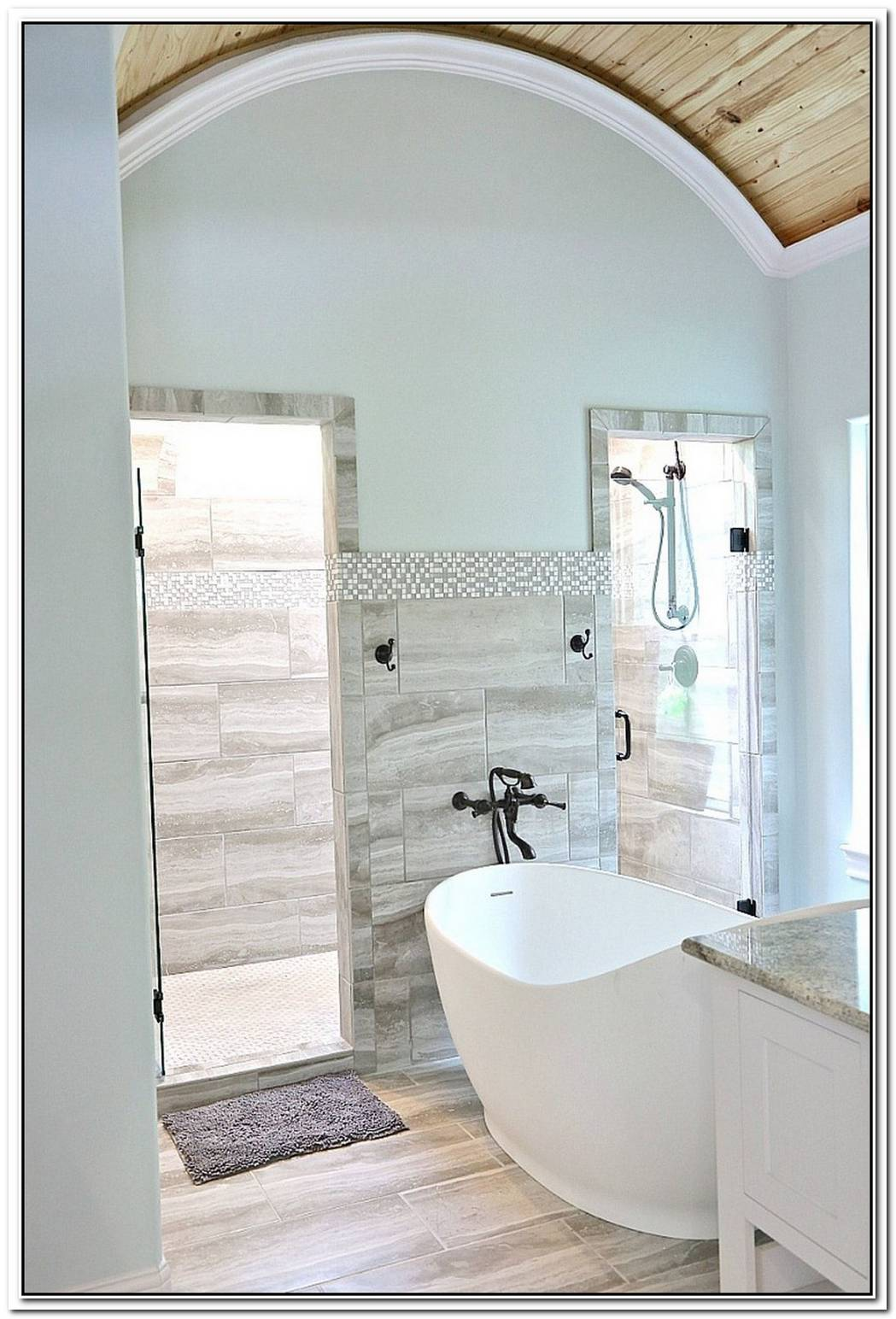 Brown Bathroom Small Sea Salt Sherwin Williams