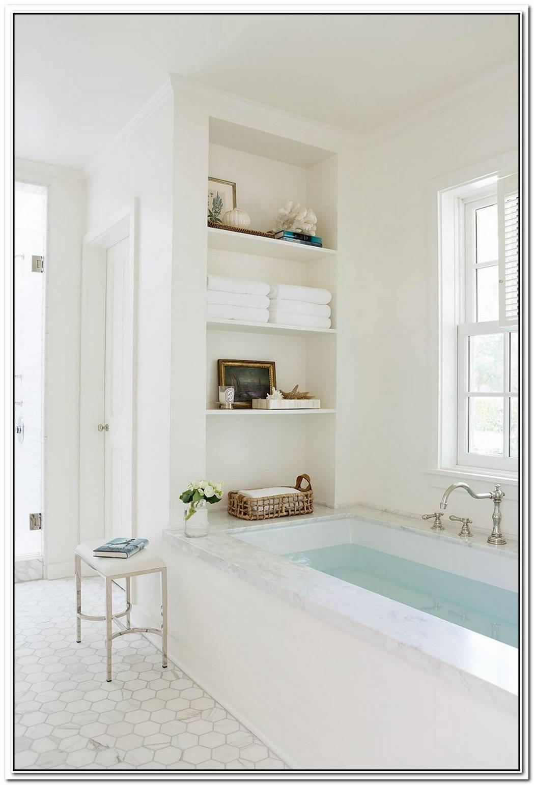 Build In Bathroom Shelf