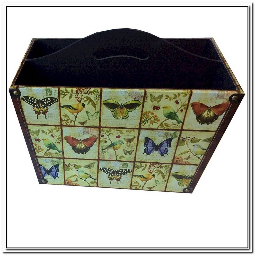 Butterfly Magazine Basket