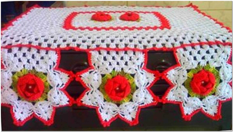 Capa De Fogão De Crochê 32 Modelos Gráficos E Receitas