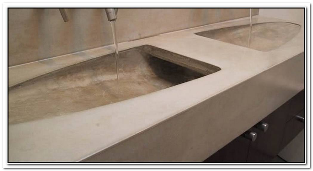 Cement Countertop Bathroom