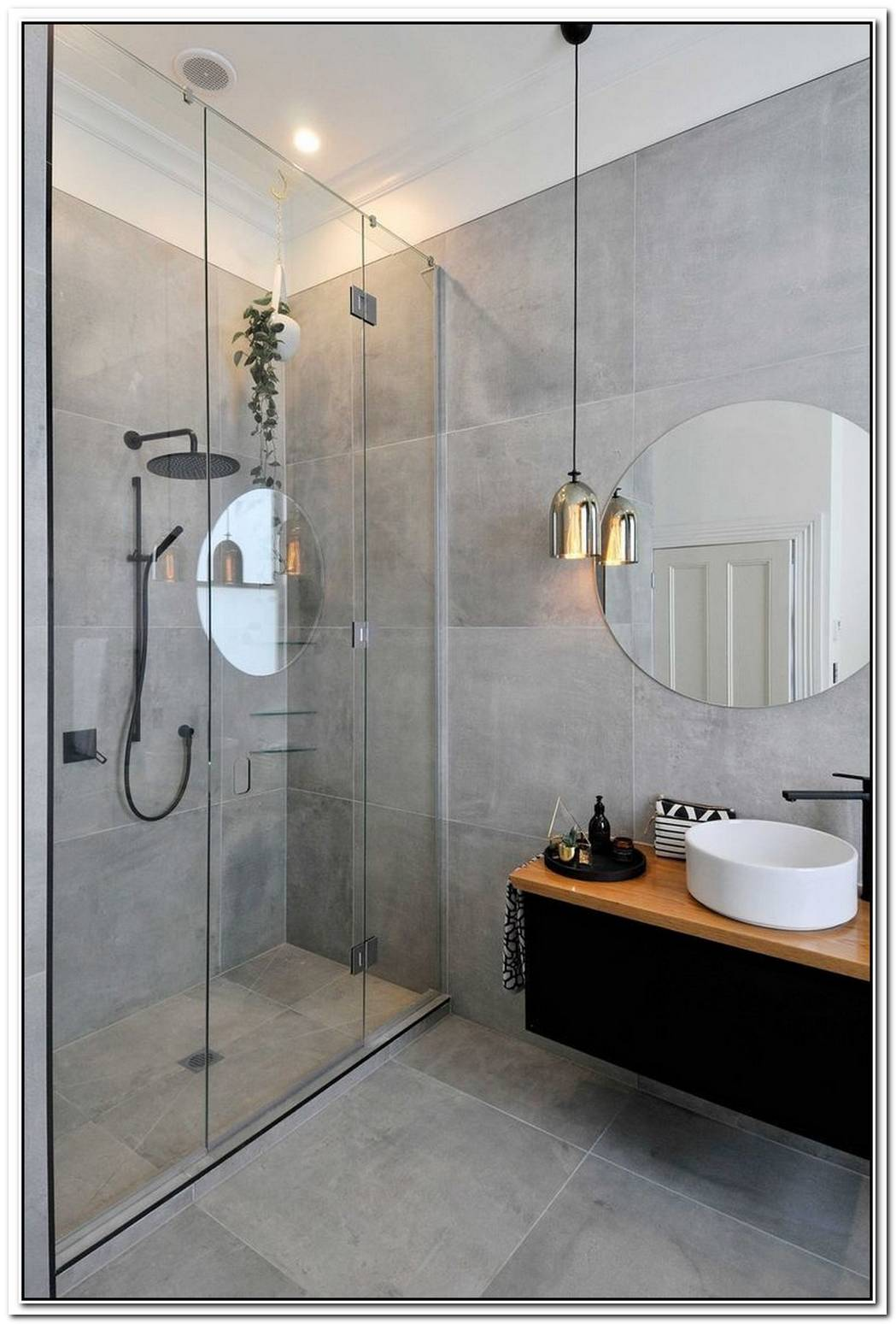 Cement Grey Bathroom Modern