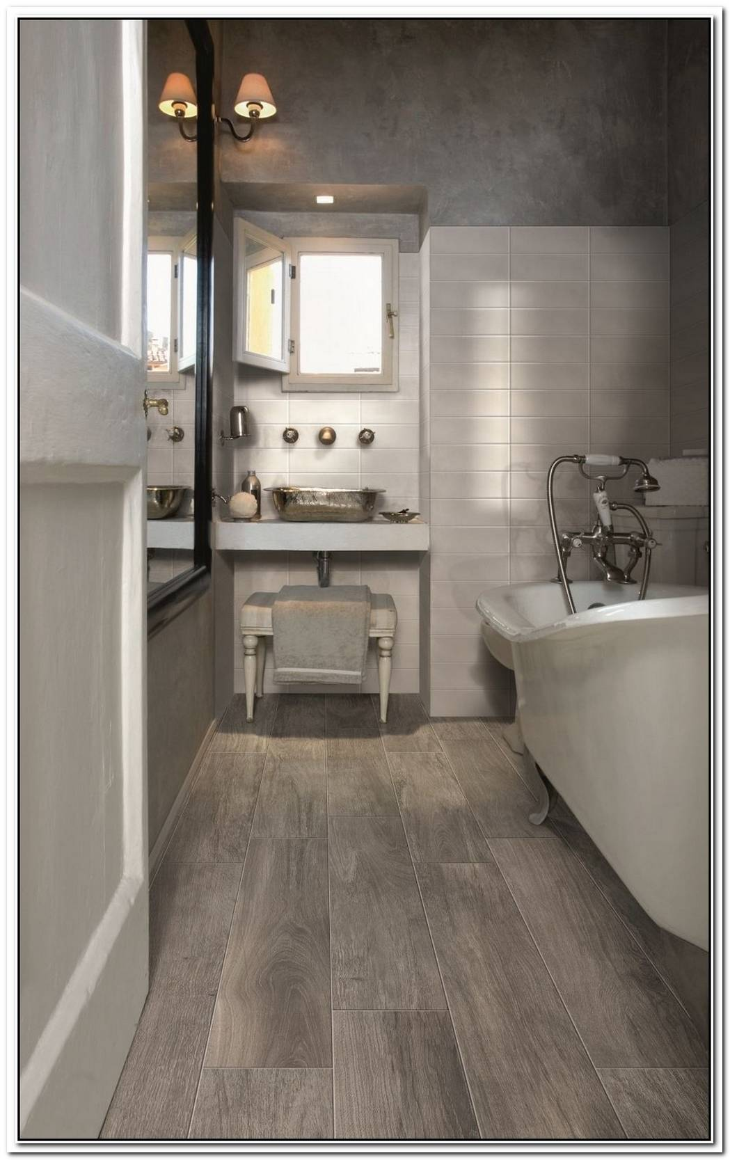 Ceramic Bathroom Wood Tile