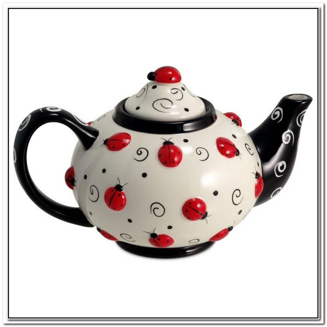 Ceramic Ladybug Teapot