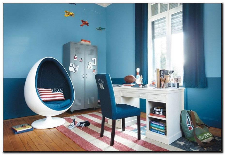 Chambre Ado Bleu Canard Et Gris