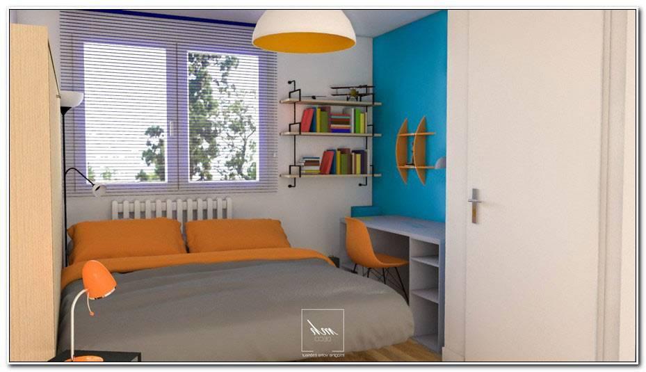 Chambre Ado Bleu Et Orange