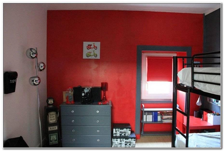 Chambre Ado Fille Gris Et Rouge