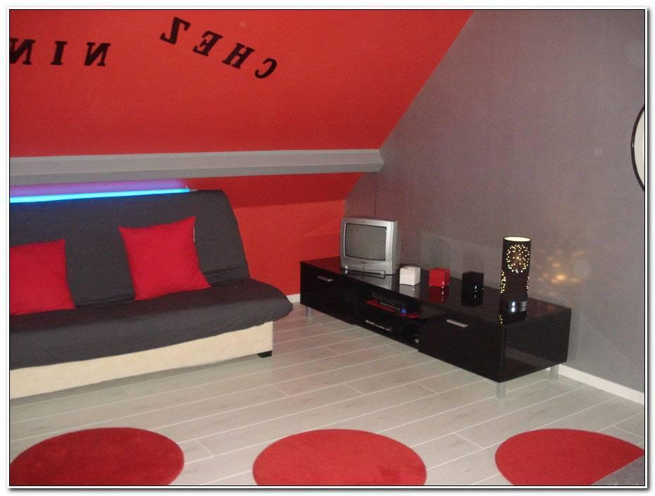 Chambre Ado Fille Rouge Et Blanc
