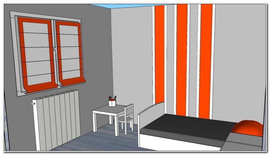 Chambre Ado Grise Et Orange