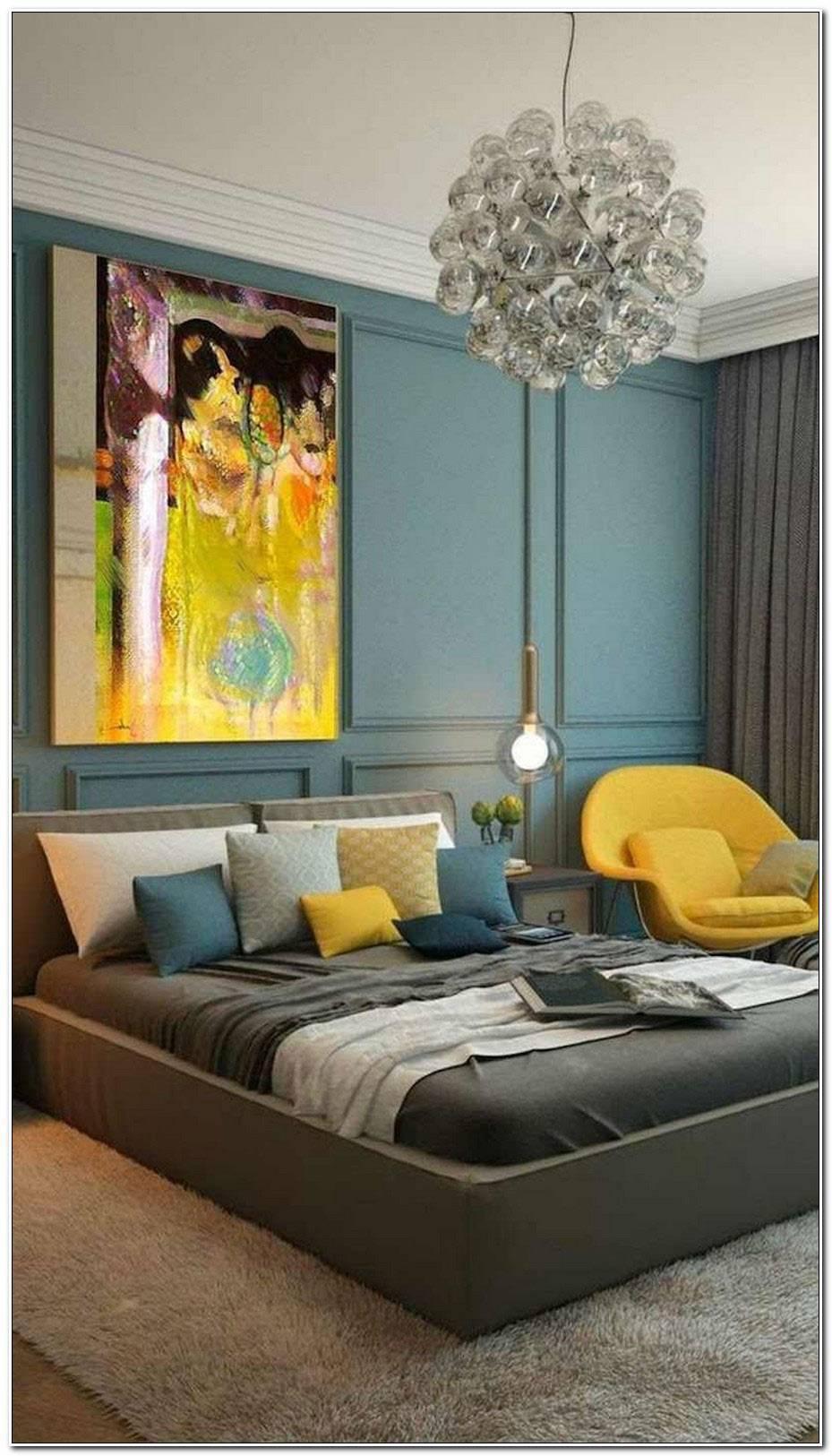 Chambre Bleu Canard Et Jaune