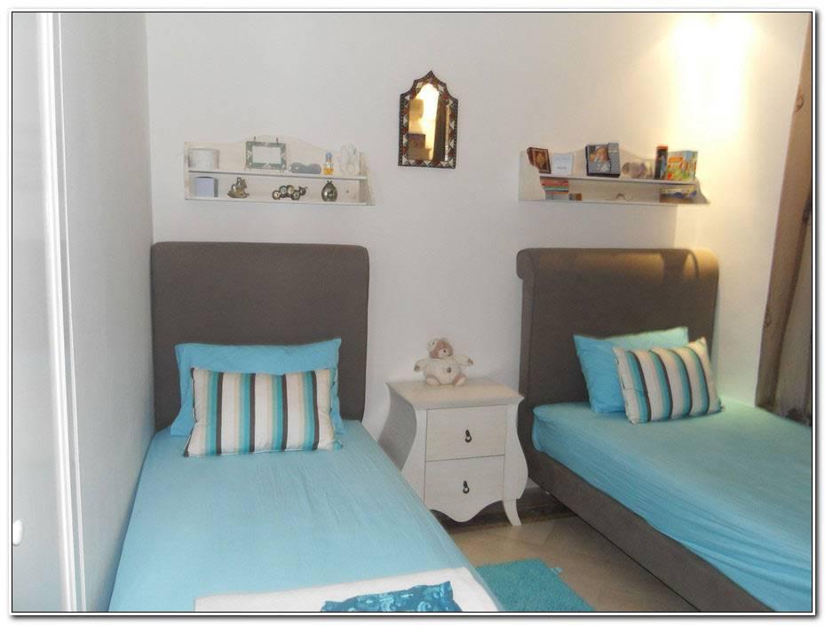 Chambre Bleu Et Taupe