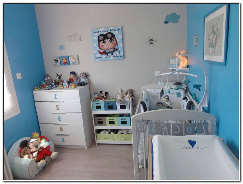 Chambre Garcon Bleu Et Gris