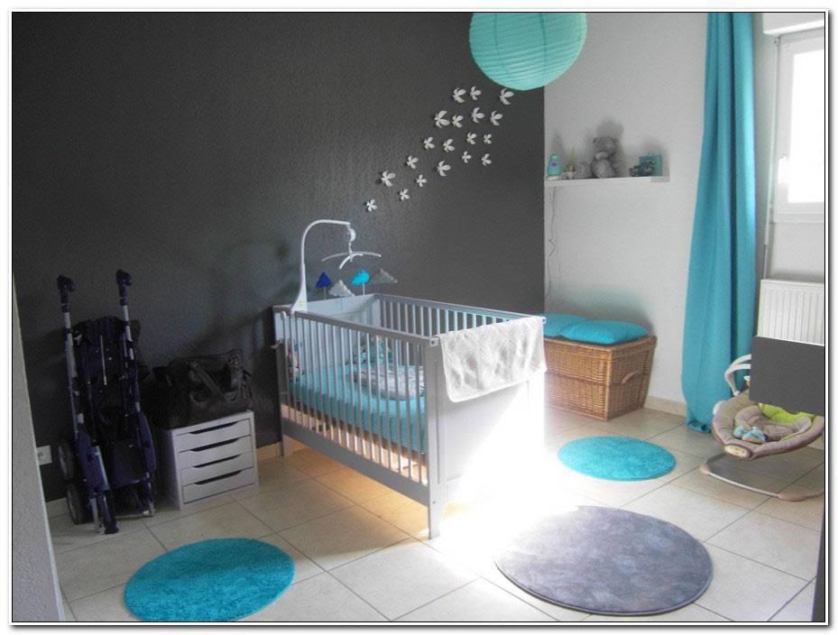 Chambre Garcon Bleu Turquoise Et Gris