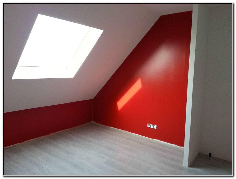 Chambre Mur Rouge Et Blanc