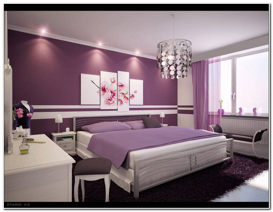 Chambre Violet Et Blanc