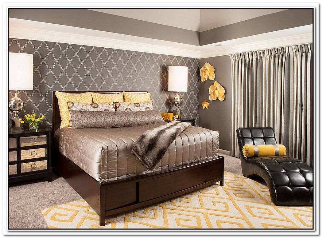 Cheerful Sophistication25 Elegant Gray And Yellow Bedrooms