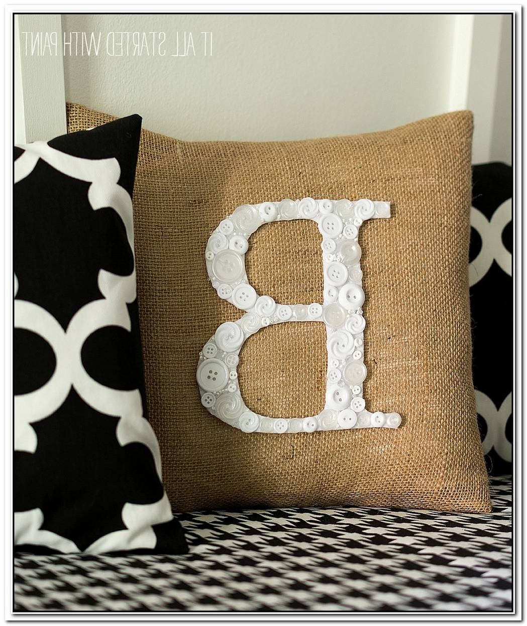 Chic Diy Monogram Pillow