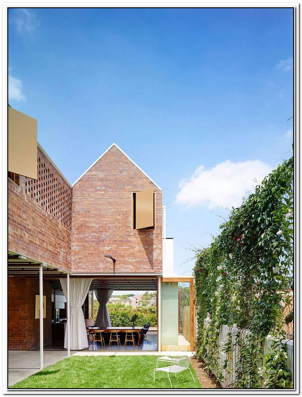 Christian Street HouseBrick Walls And High Gables For This Modern Home