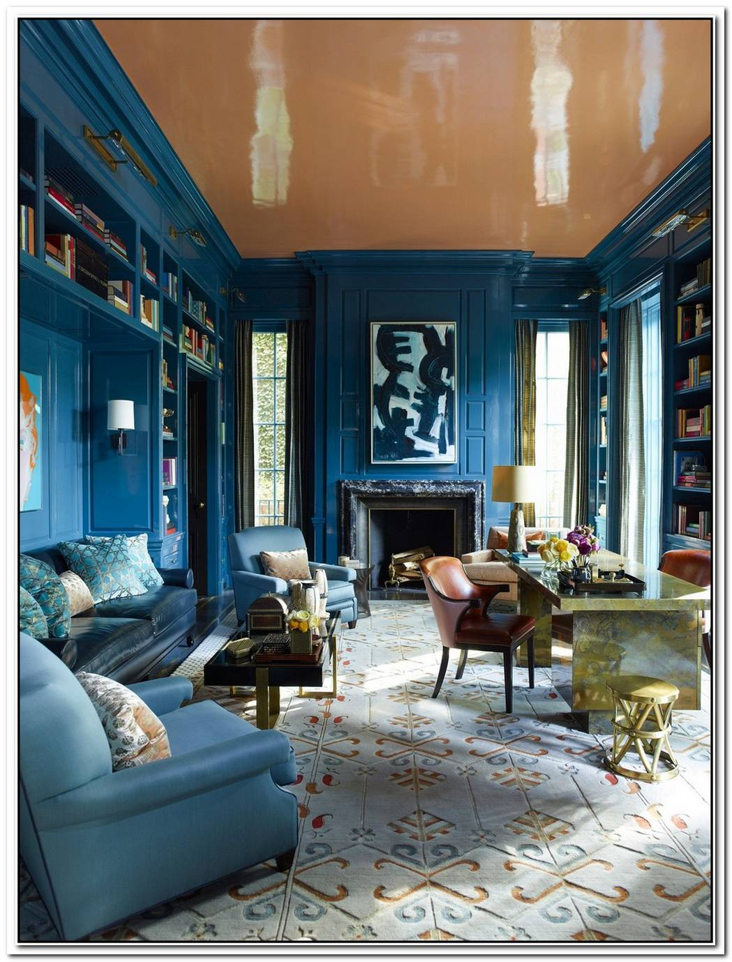 Colorful And Inviting Interior Design Samples From Steven Gambrel