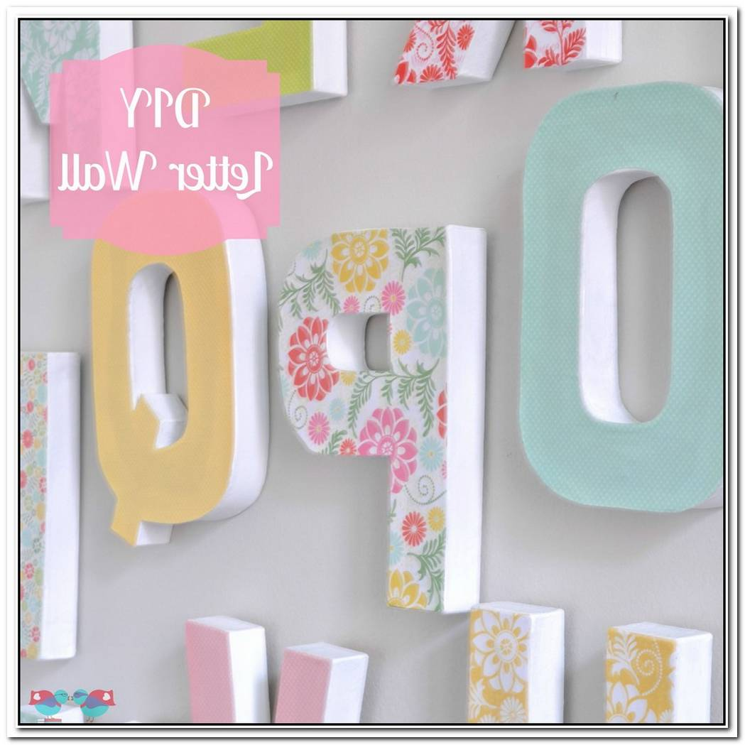 Colorful Diy Fabric Covered Letters