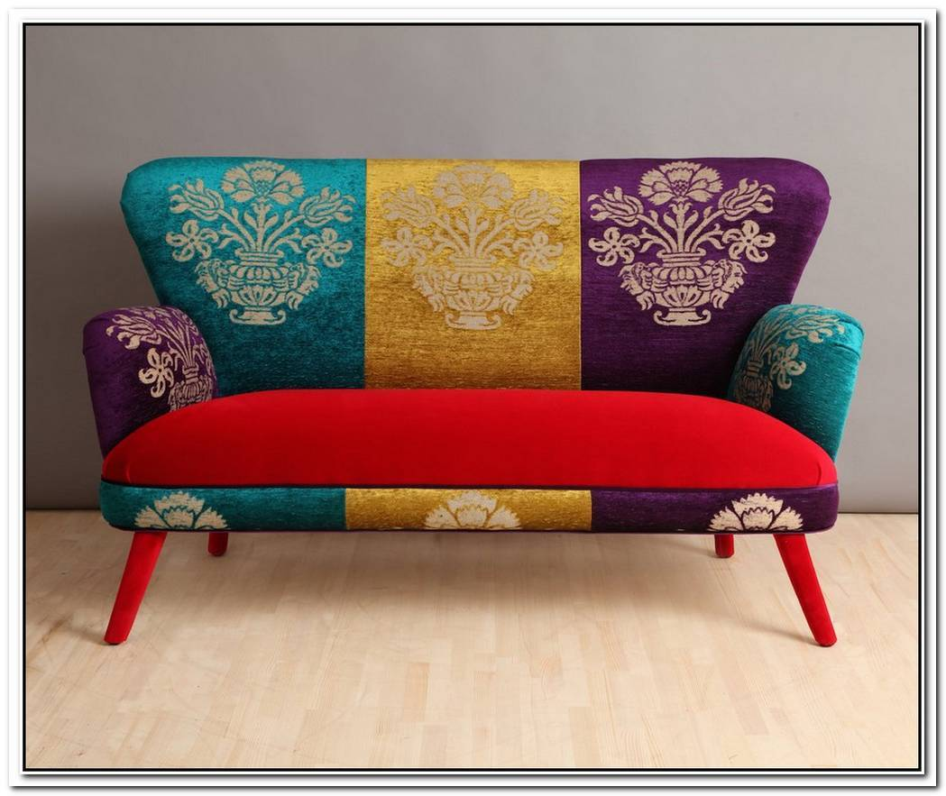 Colorful Jara Settee