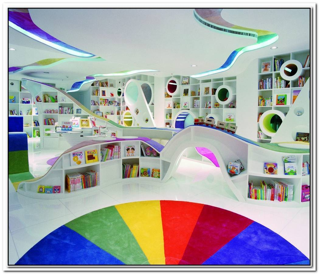 Colorful Poplar Library By Sako Architects