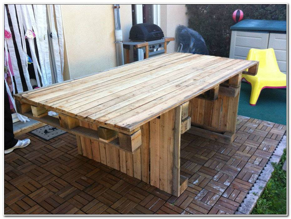 Comment Construire Une Table De Jardin En Palette