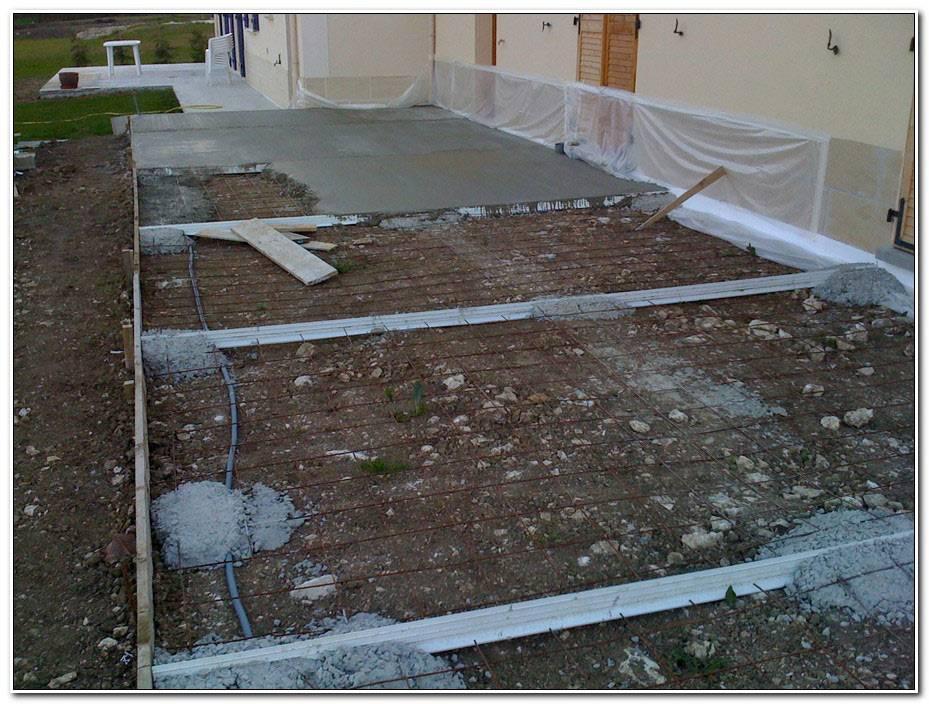 Comment Couler Une Dalle De Beton Pour Terrasse