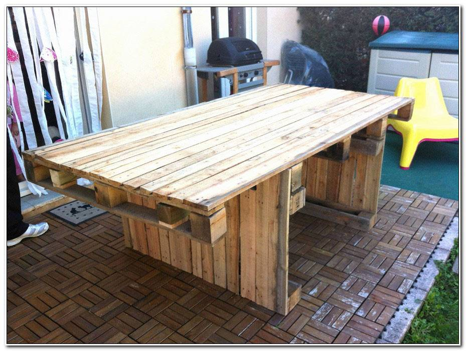 Comment Faire Une Table De Salon De Jardin En Palette