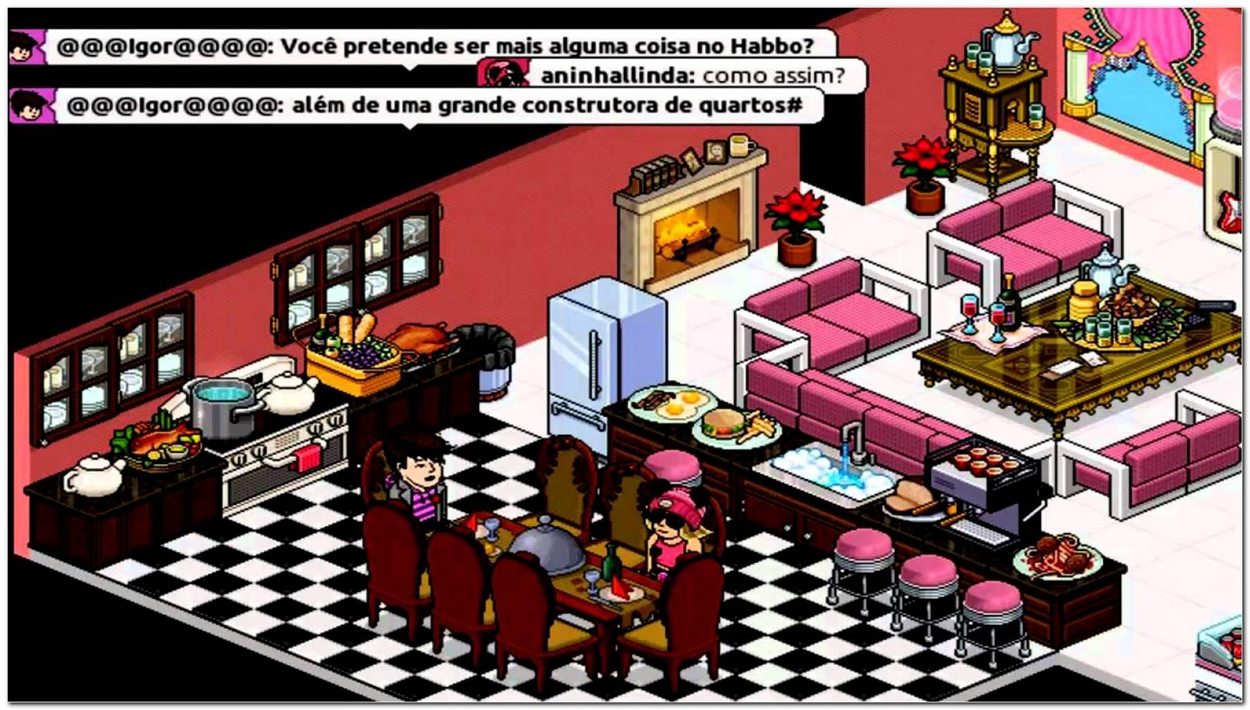 Como Fazer Uma Sala De Jantar No Habbo