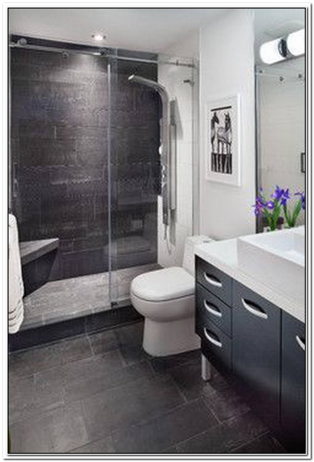 Condo Bathroom Modern Minimalist