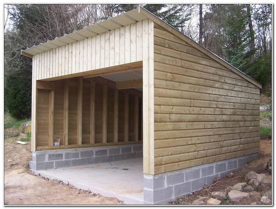 Construction D Un Garage En Bois