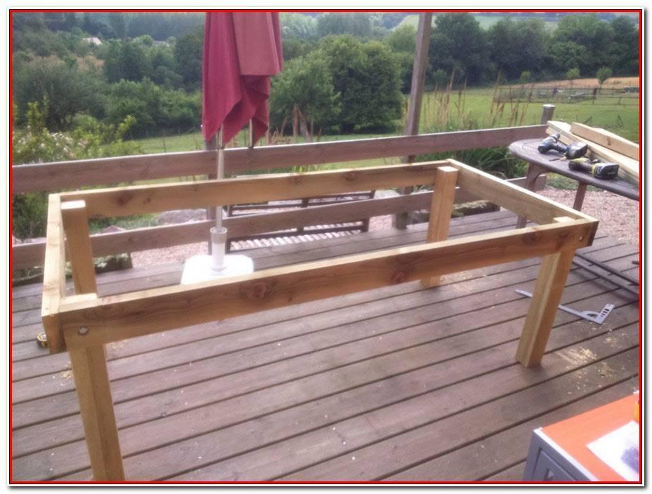 Construire Table De Jardin Bois