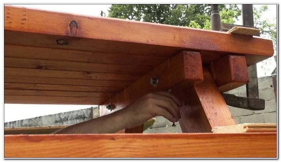 Construire Une Table De Jardin En Bois