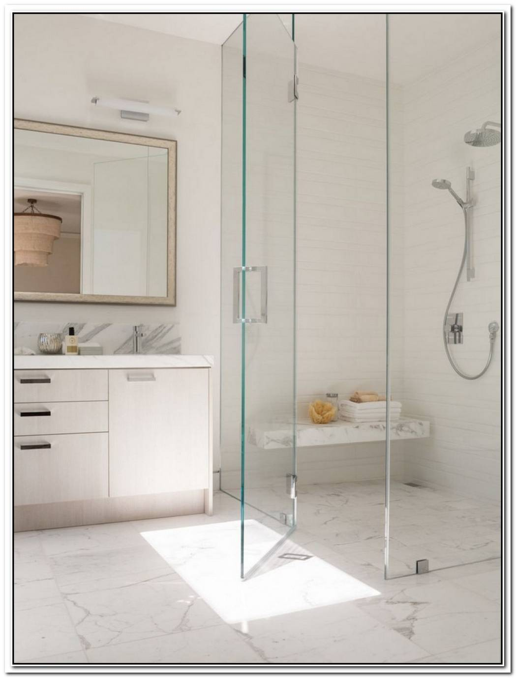 Contemporary Bathroom Condo Shower Stall