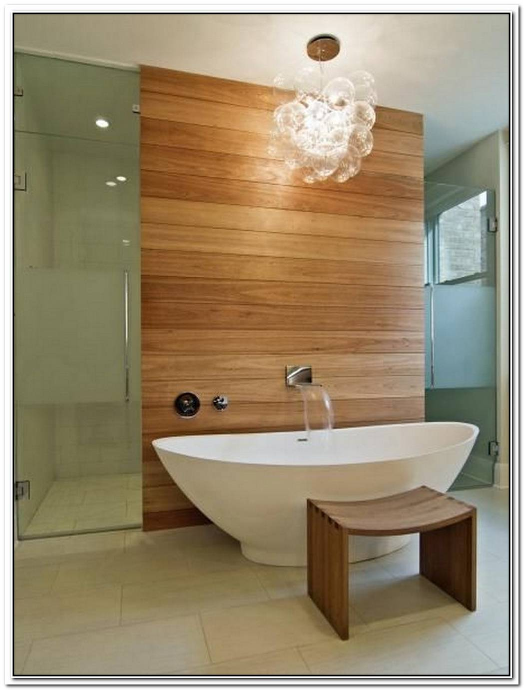 Contemporary Bathroom Feature Wall Cedar