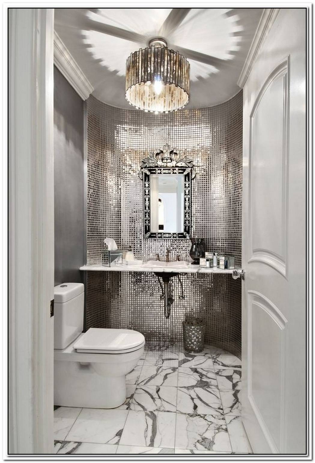 Contemporary Bathroom Glam Hollywood