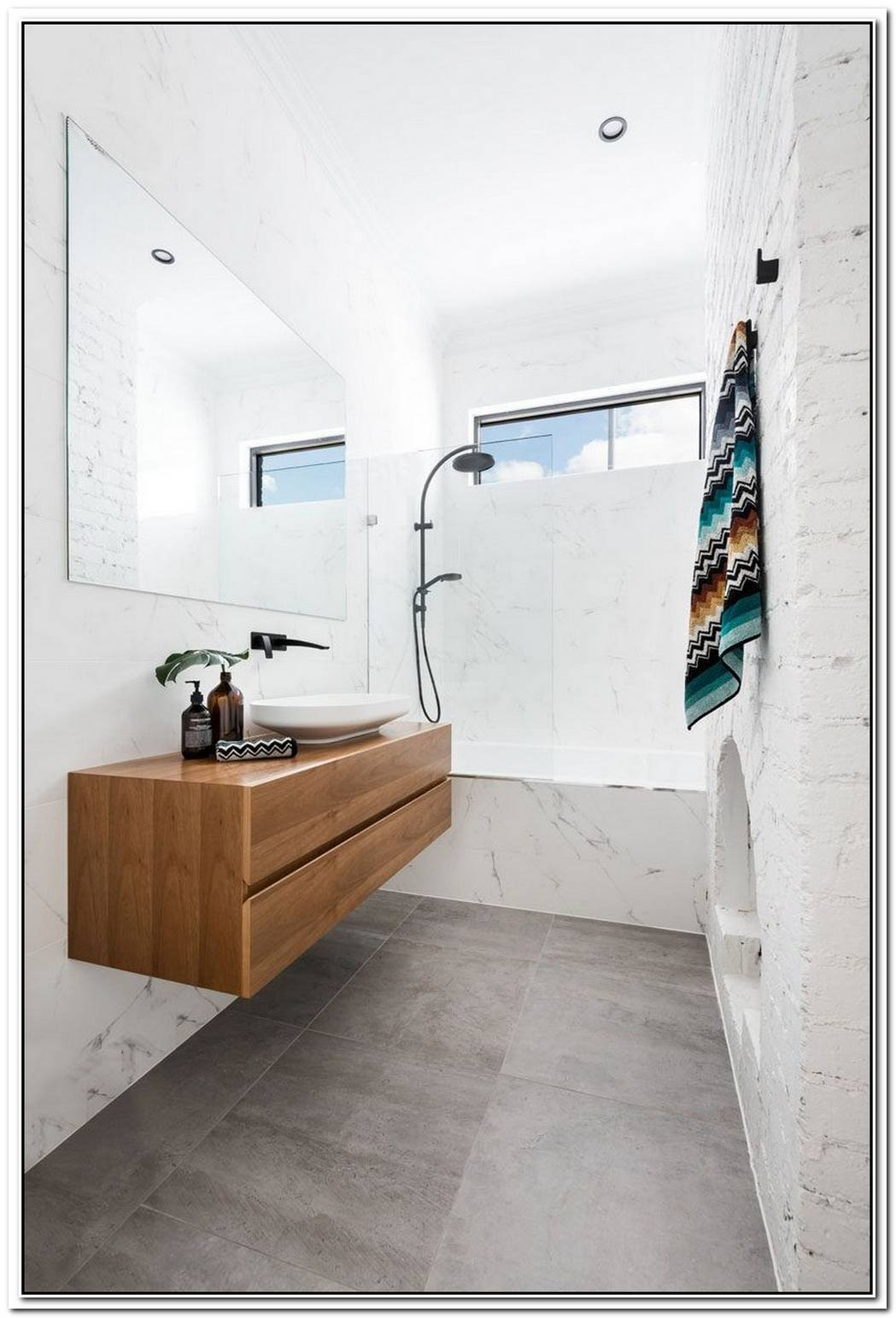 Contemporary Bathroom Renovated Original