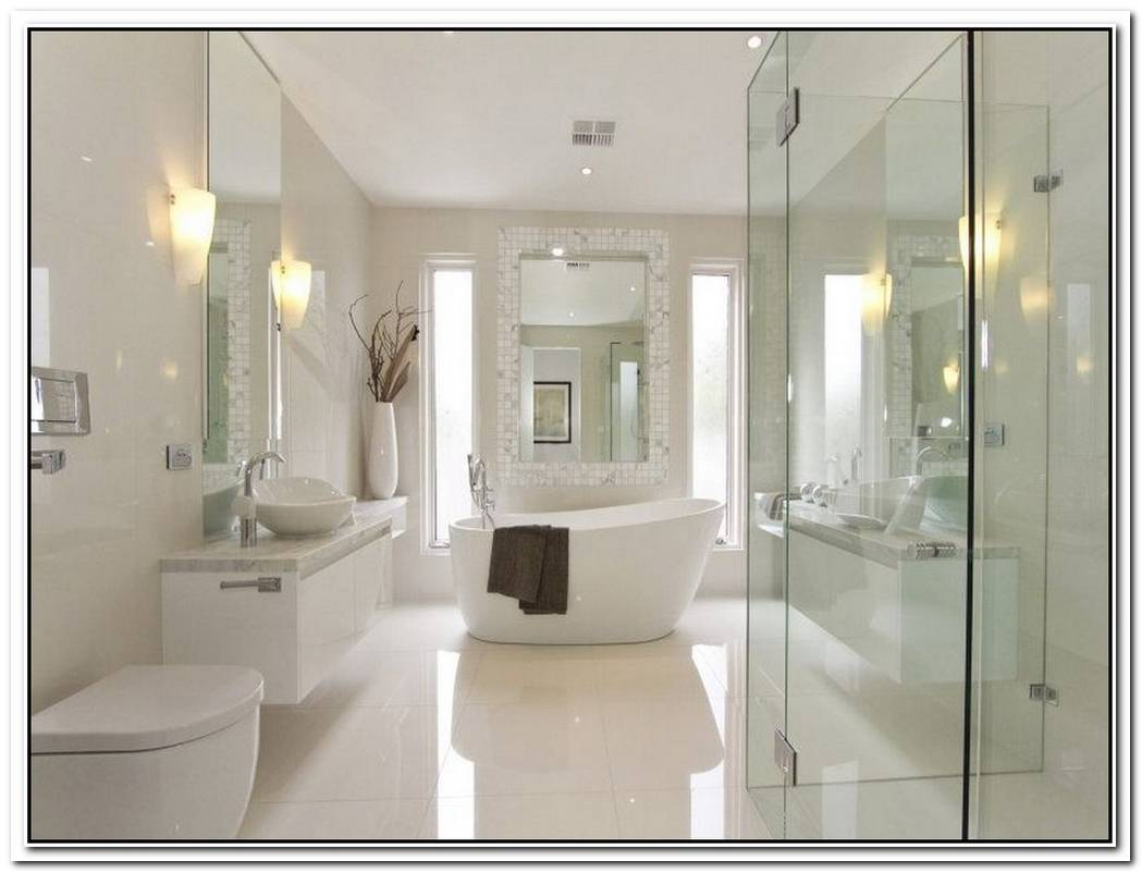 Contemporary Bathroom White High End