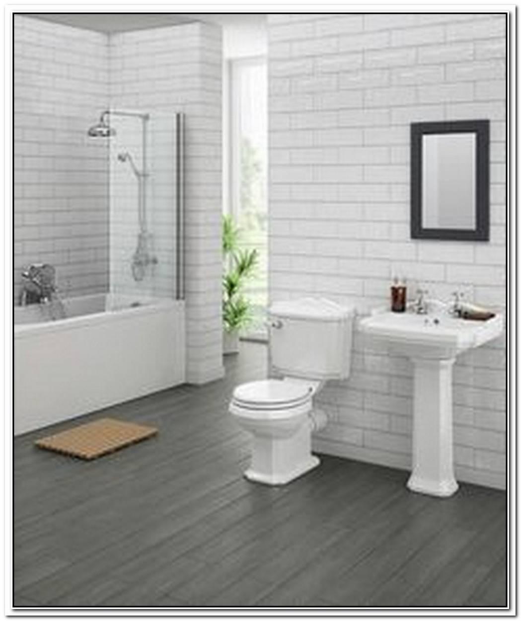 Contemporary Grey Traditional Bathroom