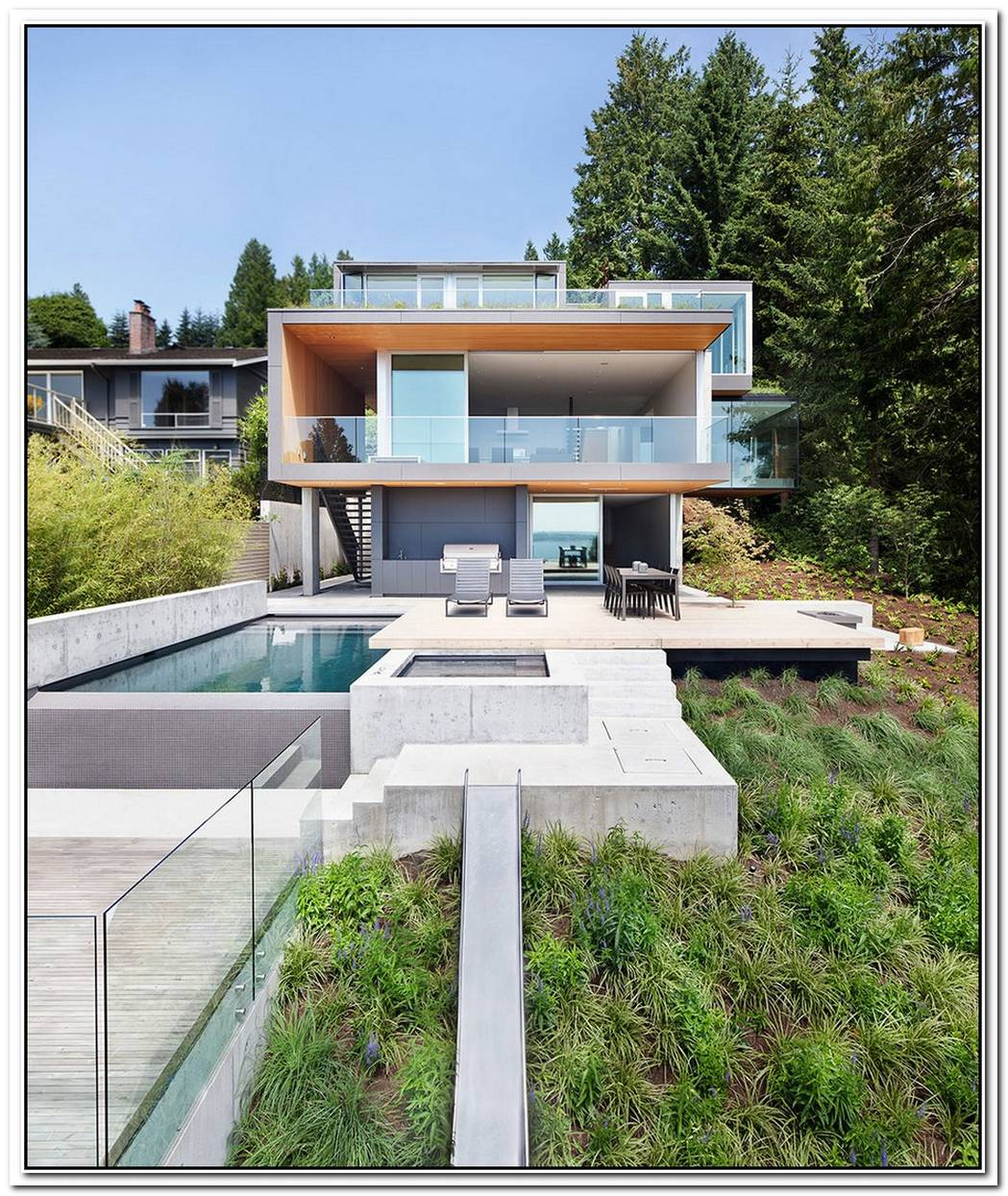 Contemporary House Architecture To Get Surroundings Of Nature