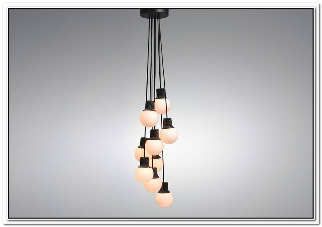 Contemporary Mass Light Made Of Brown Marble And Glass