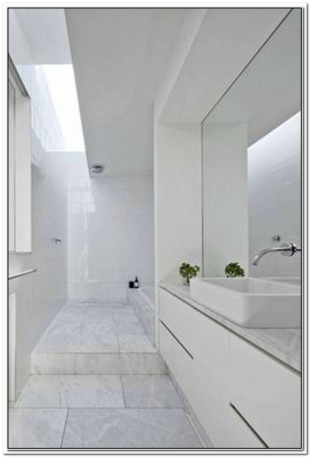 Contemporary Minimalist Bathroom Large
