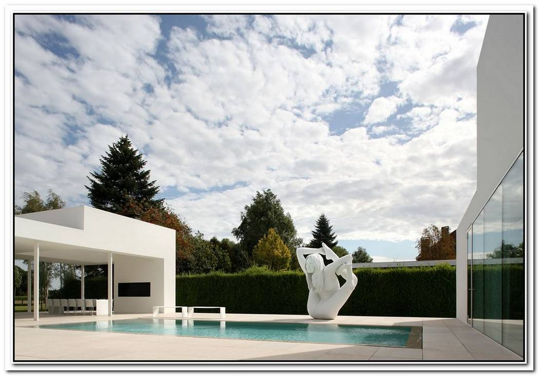 Contemporary White Villa V In Belgium