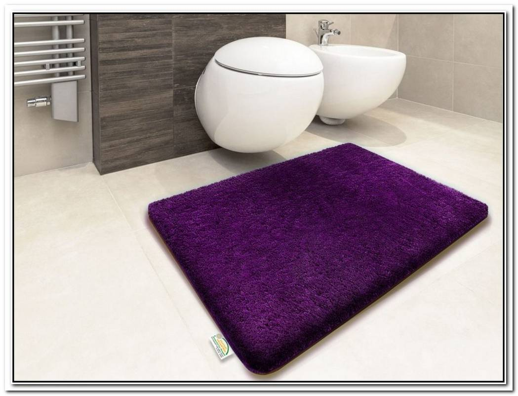 Coral Purple Bathroom