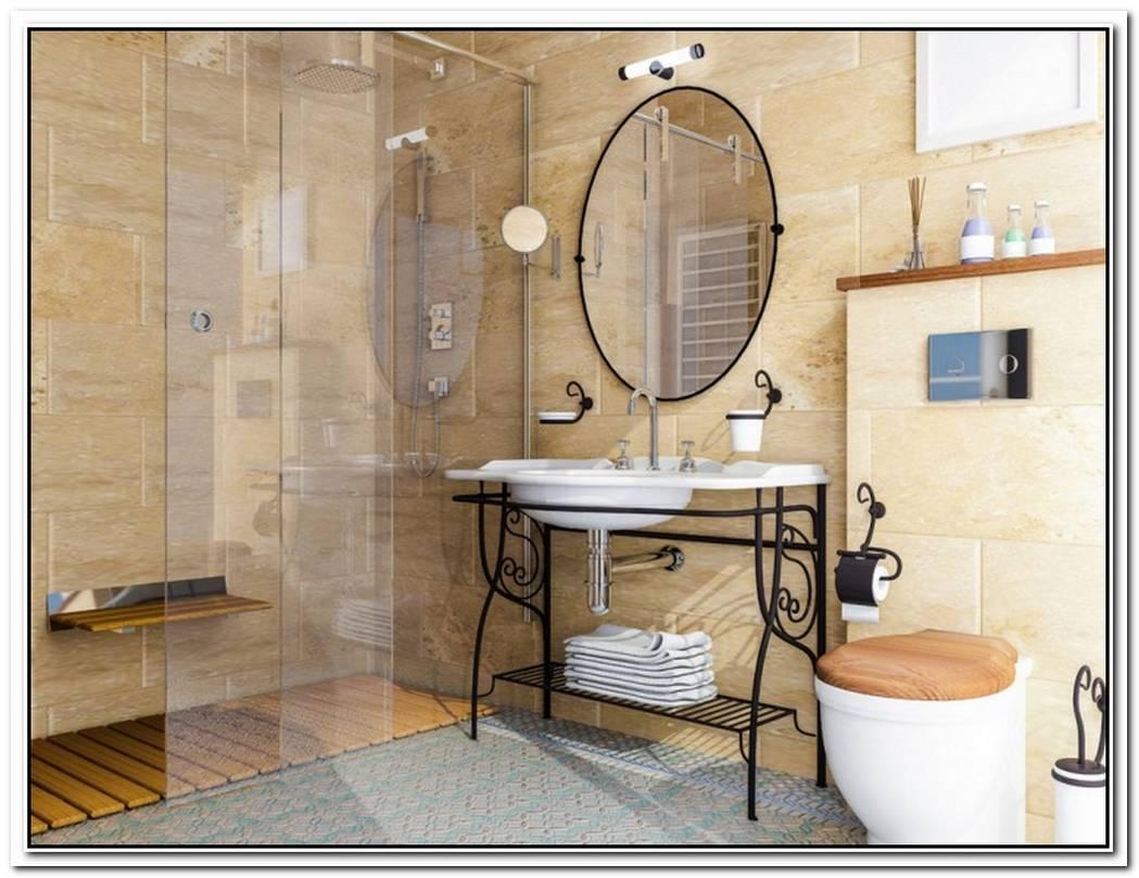 Cottage Chic Contemporary Bathroom